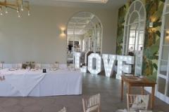 Deer Park Hotel Weddings - Letter Lights