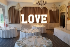 Moorland Gardens Weddings - Letter Lights