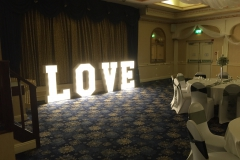 New Continental Weddings - Letter Lights