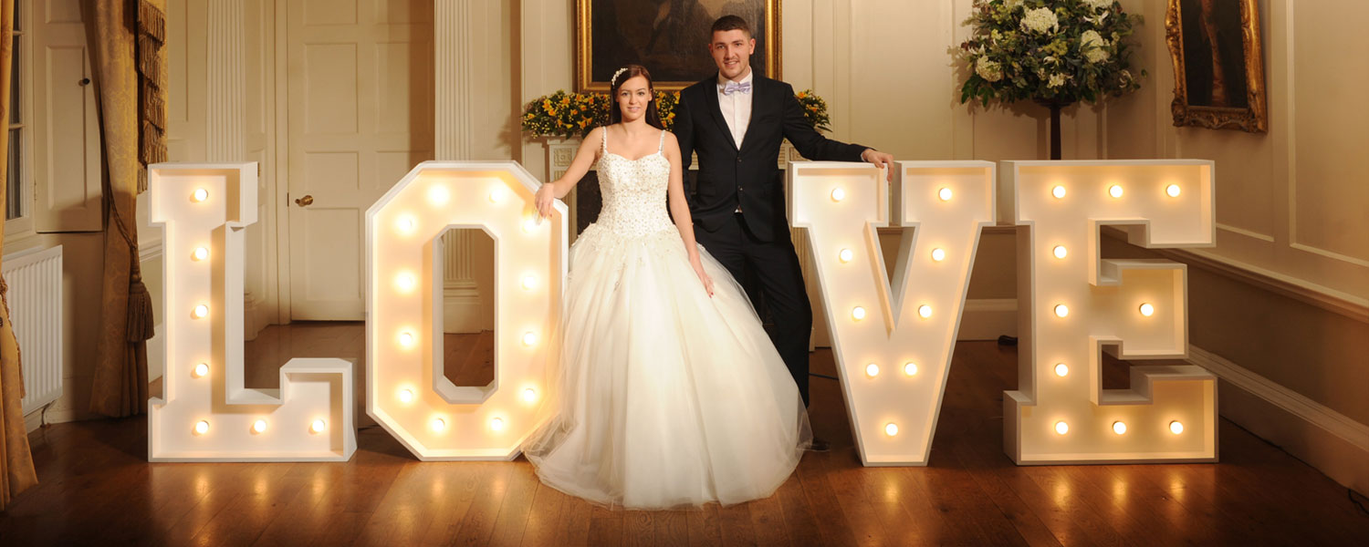 South West Letter Lights Handmade Letter Lights For Wedding